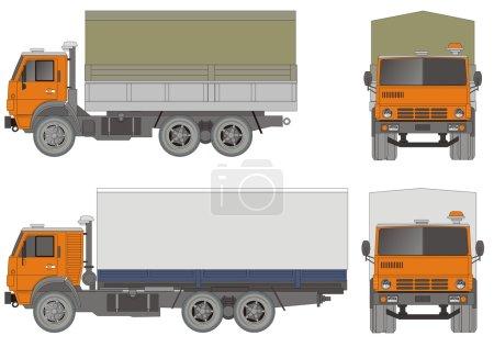 Вектор тяжелых грузовиков