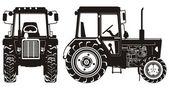 Podrobné traktor silueta