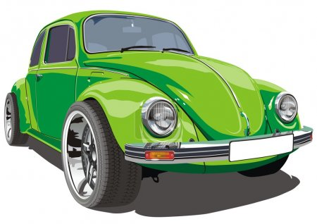Illustration for Vector deteailed retro car isolated. - Royalty Free Image
