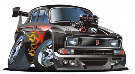 Vector retro cartoon hotrod