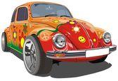 Vector retro cartoon car