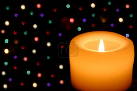 Photo for Christmas candle - Royalty Free Image
