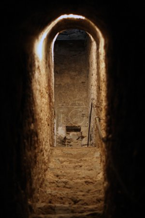 Photo for Secret tunnel used for hiding - Royalty Free Image