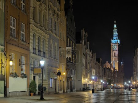 Gdansk Town Hall at night