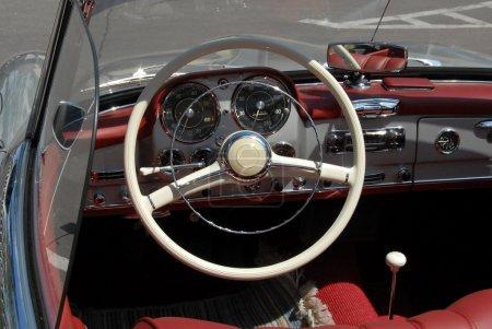 Vintage mersedes car dashboard
