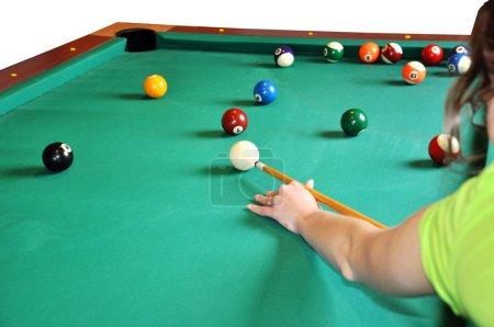 Billiard play