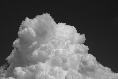 Black and white sky background