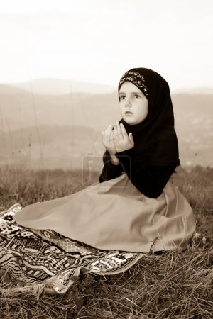Young adorable Islamic girl