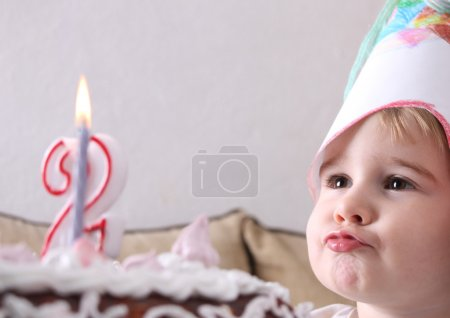 Photo for Baby with cake - Royalty Free Image