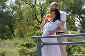 belle femme enceinte et son mari