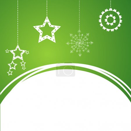Illustration for Sample Christmas background with snowflake. Vector illustration. - Royalty Free Image