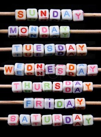 Photo pour Jours de la semaine - image libre de droit