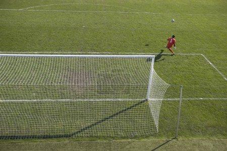 Goalie knock the ball