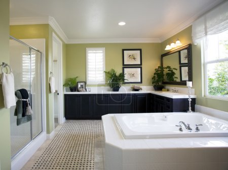 Photo for View of modern bathroom interior with natural light - Royalty Free Image