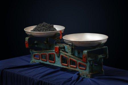 Vintage scales with a black caviar 2