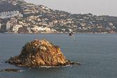 Acapulco coastline in mexico