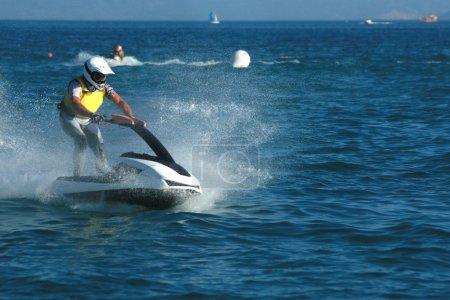 Young man on jet ski