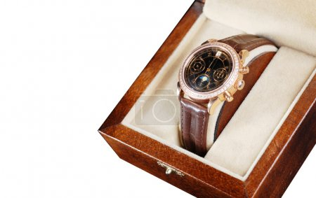 Wristwatch in box