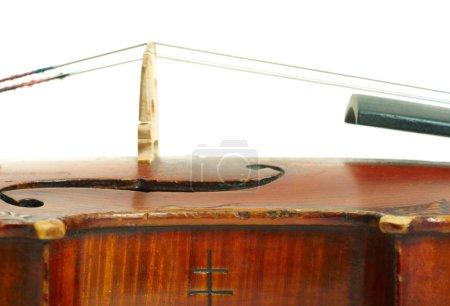 Photo pour Partie de violon sur fond blanc - image libre de droit