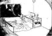 Mädchen und Raum