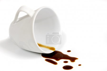Photo for Cup of coffee isolated on white background - Royalty Free Image