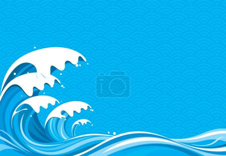 Illustration for Surf Graphic of vector illustration file No gradient fill. - Royalty Free Image