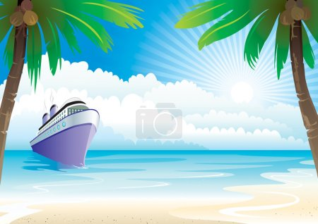 Photo pour Bon voyage vacances, fichier des couches vectorielles d'illustration . - image libre de droit