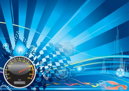 Photo for Car racing concept design, vector illustration with layer - Royalty Free Image