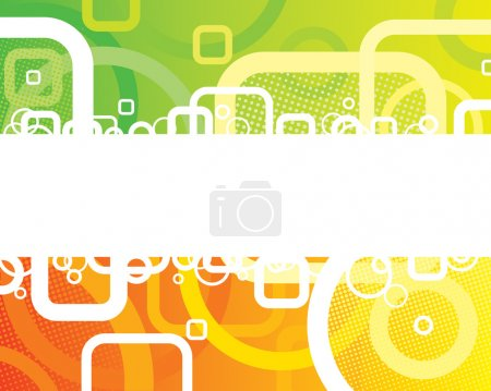 Illustration for Abstract Fresh Banner of vector illustration layered. - Royalty Free Image