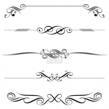 Illustration for Vector file of horizontal elements decoration design. - Royalty Free Image