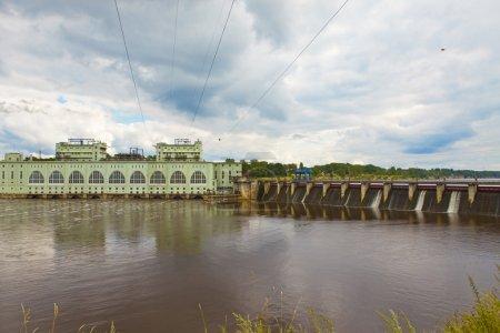 Hydro power station on river Volkhov, Ru