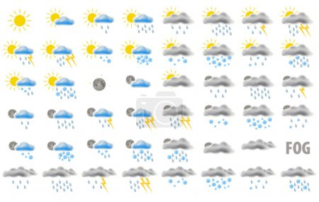 Web weather icons