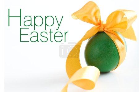 Green easter egg - greetings