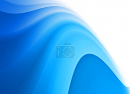 Photo for Abstract blue wave background. Space for text isolated on white. - Royalty Free Image