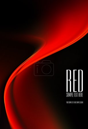 Photo for Abstract black and red background. Space for text isolated on solid color - Royalty Free Image
