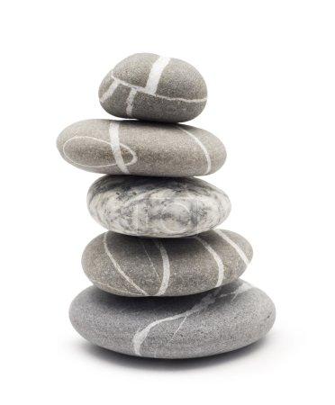 Photo pour Pierres d'équilibre isolées sur blanc - image libre de droit