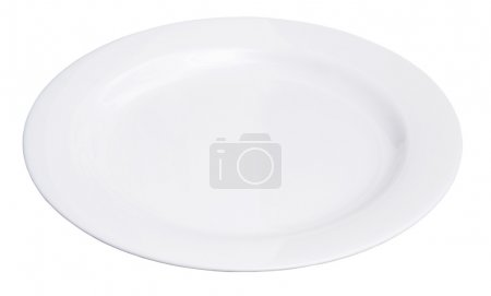 Photo for White plate isolated on white - Royalty Free Image