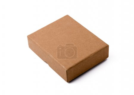 Paper box on a white background
