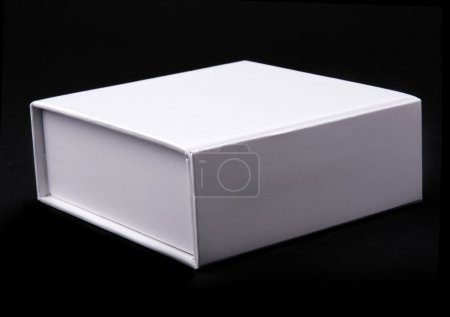 Photo for White box on a black background - Royalty Free Image