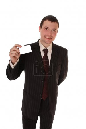 Photo for Portrait of merry young successful businessman - Royalty Free Image