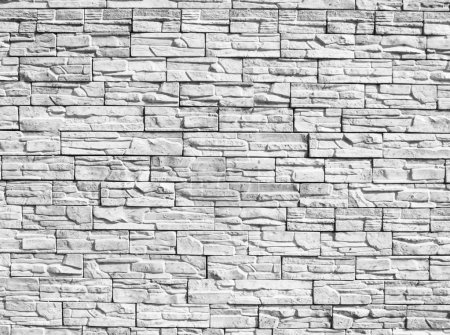 Photo for Monochrome decorative stone wall for a background - Royalty Free Image