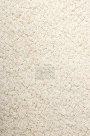 Photo pour Couverture en coton blanc structure close-up - image libre de droit