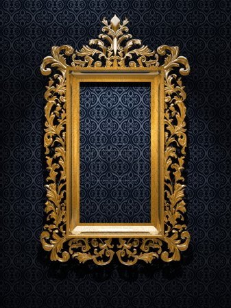 Photo for Retro Revival Old Gold Frame - Royalty Free Image