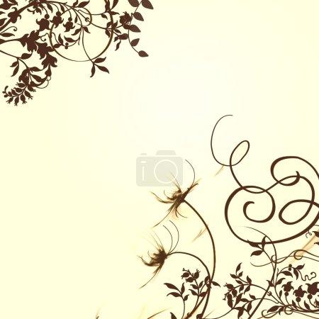 Photo pour Fond floral pour brochure ou autre chose - image libre de droit