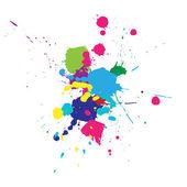 Color splashes background