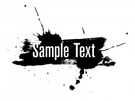 Illustration for Sample text with black ink background - Royalty Free Image