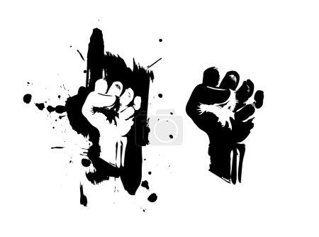 Fist on splatter