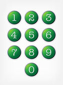 Number buttons Vector set