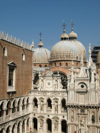 Courtyard of the Doges Palace in Venice