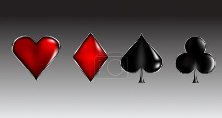 Illustration pour Illustration vectorielle des signes de carte de poker - image libre de droit